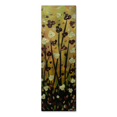 Burgundy Flowers Metal Wall Hanging