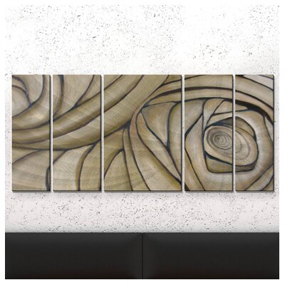 Cerebral Spiral Metal Wall Sculpture