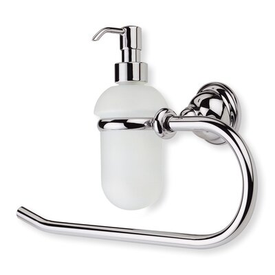Stilhaus by Nameeks Elite Classic Style Towel Ring with Glass Soap Dispenser