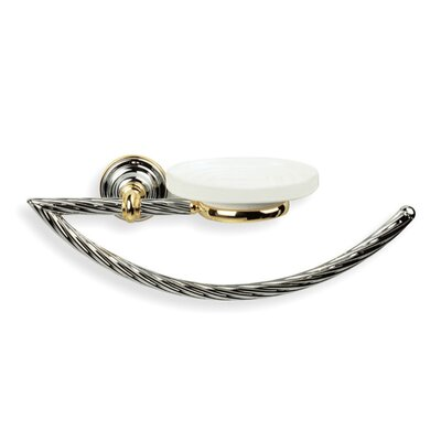Stilhaus by Nameeks Giunone Wall Mounted Classic Style Towel Ring with Soap Dish