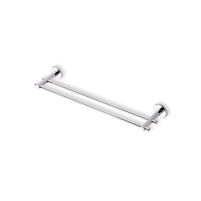 "Stilhaus by Nameeks Venus 18"" Wall Mounted Double Towel Bar in Chrome"