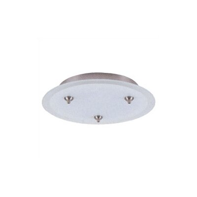 LBL Lighting 277V Fusion Jack Three Port Round Canopy in Satin Nickel