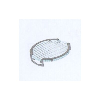LBL Lighting Lens Single Clip Grid Diffuser in Silver