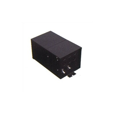LBL Lighting Fusion Monorail 600W Remote Magnetic Transformer with Black Metal Housing - ...