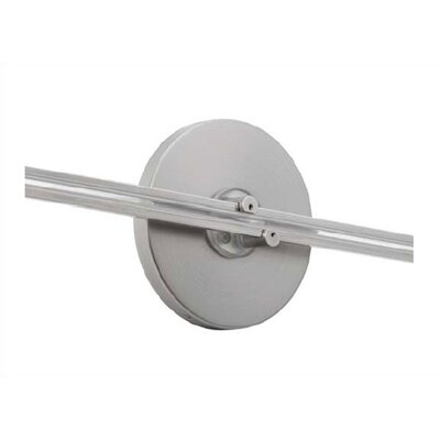 LBL Lighting LED Illuminated Wall Monorail Round Direct Feed Canopy in Satin Nickel