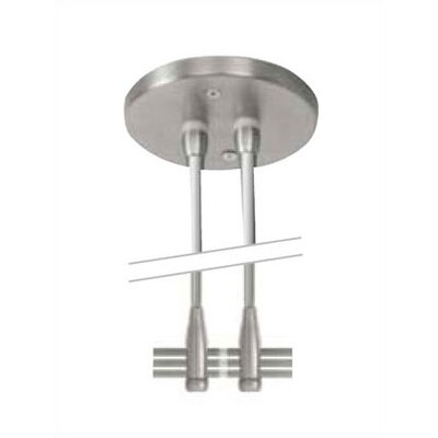 "LBL Lighting 4"" Dual-Post Power Feed Canopy for LED Monorail"