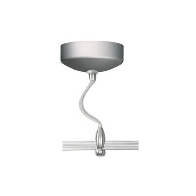 LED Illuminated 60W Monorail Surface Electronic Transformer in Satin Nickel