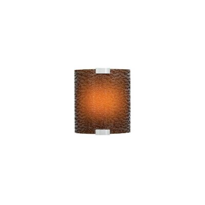 LBL Lighting Omni One Light Outdoor Incandescent Wall Sconce with Small Cover in Silver