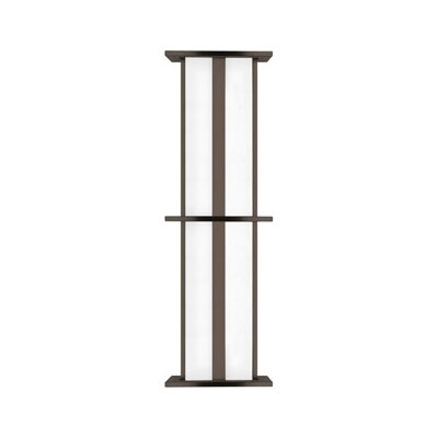 LBL Lighting Modular Tubular 120V 39W Large Two Light Outdoor Wall Sconce in Stainless Steel