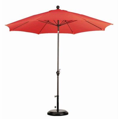 California Umbrella 9' Wind Resistance Fiber Market Push Tilt Umbrella