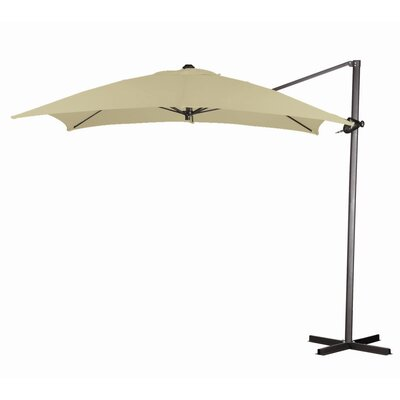 California Umbrella 8' Square Cantilever Steel Market Umbrella