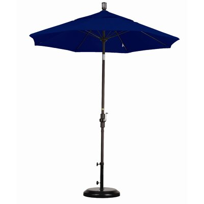 California Umbrella 7.5' Fiberglass Market Collar Tilt Umbrella