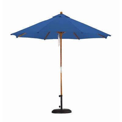 9' Wood Pulley Open Market Umbrella