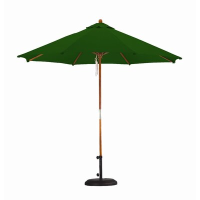 California Umbrella 9' Wood Pulley Open Market Umbrella