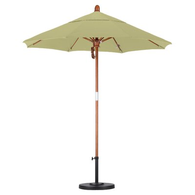 7.5' Fiberglass Marenti Wood Market Umbrella