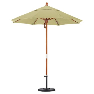 California Umbrella 7.5' Wood Market Umbrella