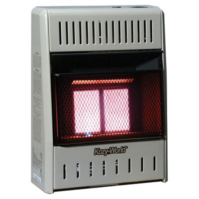 World Marketing 10,000 BTU Infrared Wall Natural Gas or Propane Space Heater with Thermostat