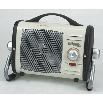 World Marketing Multi-Purpose Fan Forced Compact Electric Space Heater with Thermostat