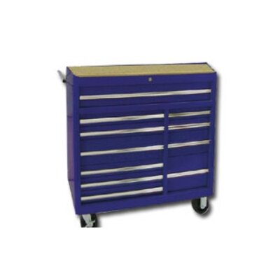 "International Tool Box 40""Blue 11-Drawer Roller Cabinet- Rlr Bearing"