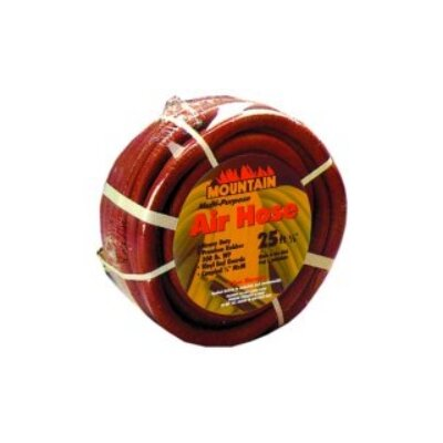 Mountain Hose 25' 3/8Id Rubber 4 Spiral