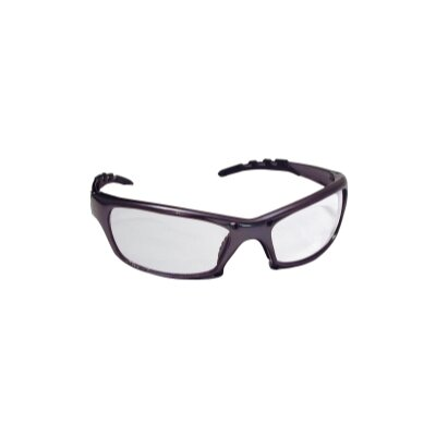 SAS Safety Gtr Safety Gls Charcoal Frame/ Clear Lens