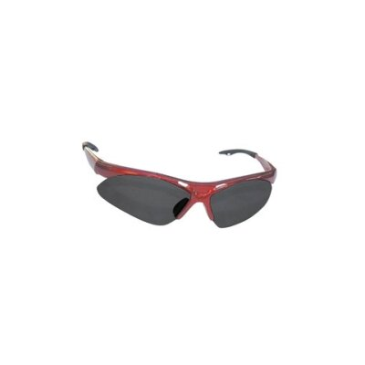SAS Safety Diamondback Safety Gls Red Frame/Shade Lens