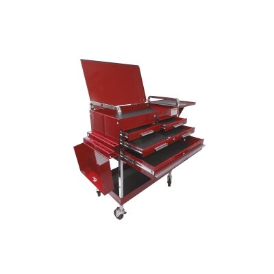 Sunex Dlx Service Cart W/Locking Top 4-Drawers Red