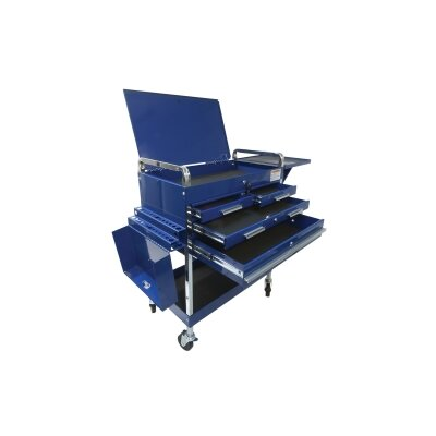"Sunex Deluxe 34.25"" Wide 4 Drawer Service Cart"