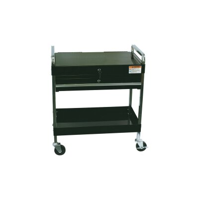 Sunex Service Cart W/Locking Top & Drawer Black