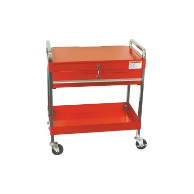 Sunex Service Cart W/Locking Top &amp; Drawer Red