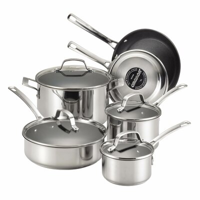 Circulon Genesis 10-Piece Stainless Steel Cookware Set
