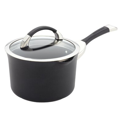 Symmetry 3.5-qt. Straining Saucepan with Lid