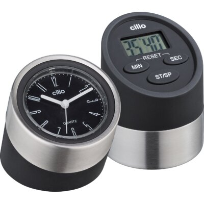 Frieling 2 Piece Digital Kitchen Timer and Clock Set