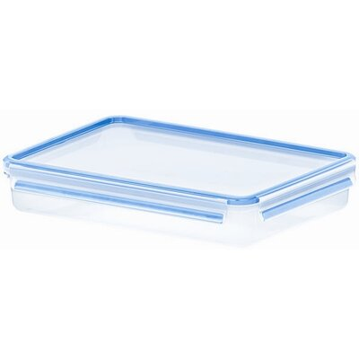 Emsa 3D Food Storage Shallow Rectangular 88 fl oz Clip and Close Container