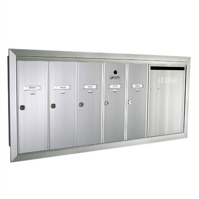 Florence Mailboxes 1260  Vertical Unit With Outgoing Mail Slot and Surface Mount Collar