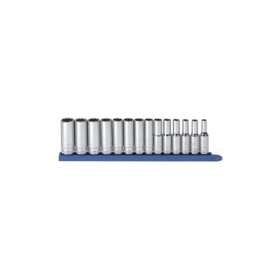 "KD Tools 14Pc 3/8"""" Dr 12Pt Deep Metric Socket Set"