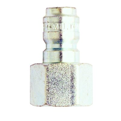 Milton Industries 3/8 Female Straight Thru Plug