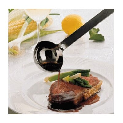 Rosle Stainless Steel 1.3 Ounce Portioning Ladle with a Hooked Handle