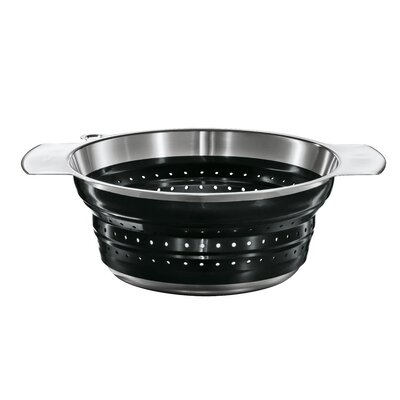 "Rosle 10"" Foldable Strainer in Black"