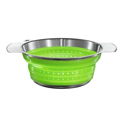 "Rosle 8"" Foldable Strainer in Green"