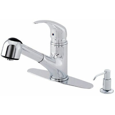 "Danze® Melrose 8.875"" Single Handle Centerset Pull-Out Kitchen Faucet"