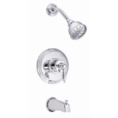Danze® Prince Single Handle Pressure Balance Diverter Tub and Shower Faucet