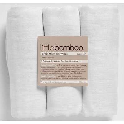 Little Bamboo Muslin Wrap -  3 Pack