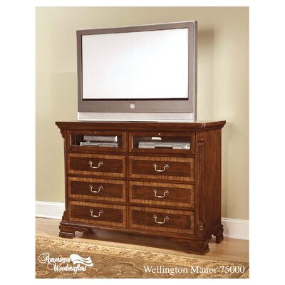 American Woodcrafters Wellington Manor 6 Drawer Dresser