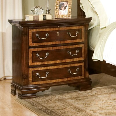 Wellington Manor 3 Drawer Nightstand