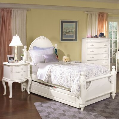 American Woodcrafters Cheri Poster Bed with Trundle