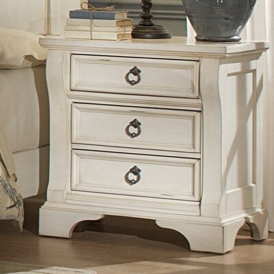 American Woodcrafters Heirloom 3 Drawer Nightstand