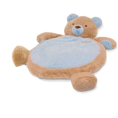 Baby Mat with Bear in Blue