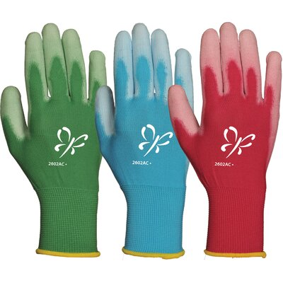 Atlas Women's Assorted Reinforced Fingertips Polyurethane Palm Gloves