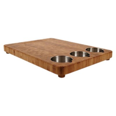 Chop Large Three Bowl Prep Cutting Board